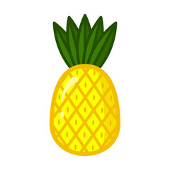 Pineapple vector icon. Tropical fruit.