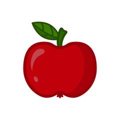 Red apple. Fresh fruit. Vector illustration