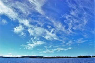 Murman, Russia, Iova lake, little clouds