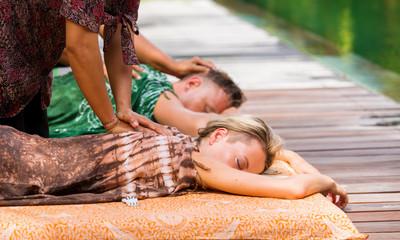 Couple having massage together
