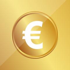 Gold Medaille - Euro-Zeichen