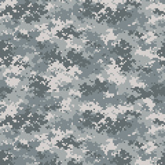 Camouflage seamless pattern. Trendy urban camo, repeat print. Vector illustration.