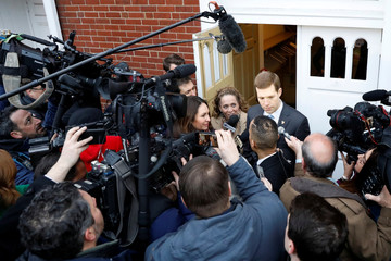 Democratic congressional candidate Conor Lamb speaks to the press after voting in Mt. Lebanon, Pennsylvania