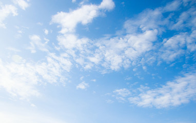 White clouds on the blue sky. Sky texture