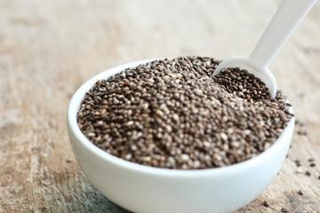 Heap organic chia seeds