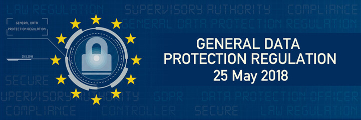 Banner General Data Protection Regulation GDPR