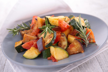 grilled vegetable, ratatouille
