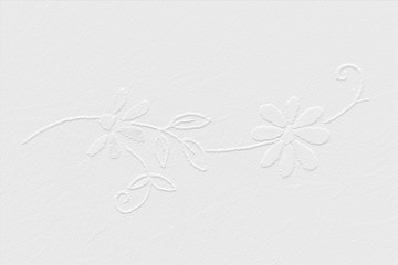 White Wallpaper, ornamenal flower, garland
