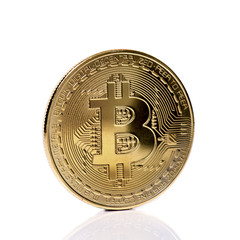 bitcoin on a white background
