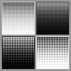 Wall Mural - Set of Abstract Halftone Backgrounds. Vector illustration.