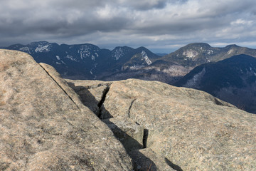 Adirondack Mountain Summit with View of the Great Range