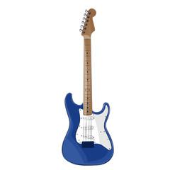 Синяя электрогитара