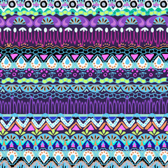 abstract funky shapes in stripe design - seamless background