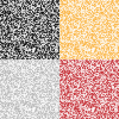 Set of Abstract Pixel Backgrounds. Vector illustration.