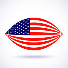 Stylish american flag for Independence day. Vector illustration.