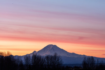 Mt Rainier at first light