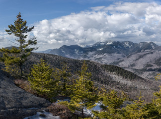 Adirondack Mountain Great Range and Spruce Trees