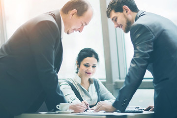 Business team working together achieve better results