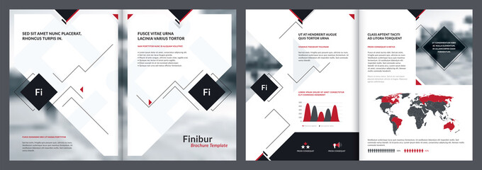 Elements of infographics for brochure template, catalog template and report templates. Corporate annual report, leaflet, newspaper design, brochure and magazine template design. Vector Illustration.