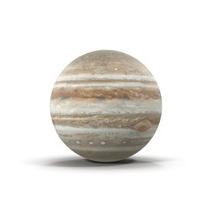 Jupiter Planet on white. 3D illustration