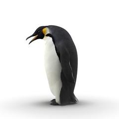 Emperor penguin. isolated on white. 3D illustration