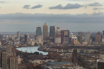 Canary Wharf from the distance