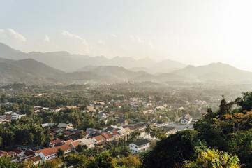 Village in mountain landscape