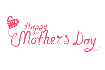 Happy Mothers Day Caligraphy Background Vector Illustration