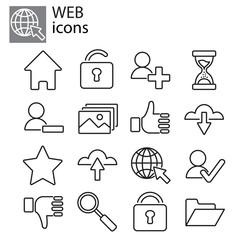 Web icons set - Basic web icons, web communication