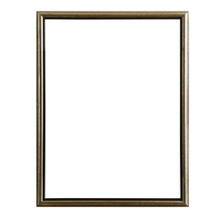 empty vintage photo frame,wood frame isolated on white background,interior decorative object