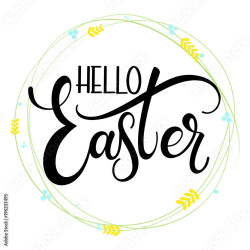 Hello easter colorful lettering hand written easter phrases hand written easter phrases seasons greetings m4hsunfo