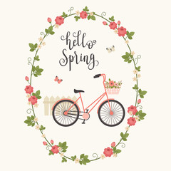 Spring concept vector illustration