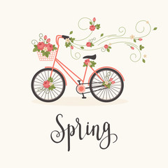 Spring concept vector illustration.