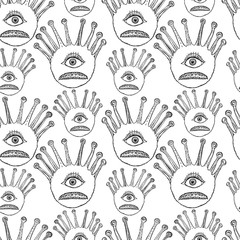 Pattern of the magic eyes