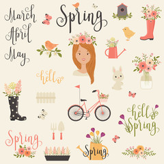 Bundle/set of Spring icons