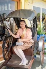 women wear Thailand National Costume