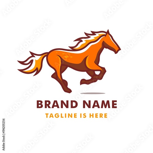 Running horse logo template stock image and royalty free vector running horse logo template maxwellsz
