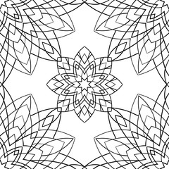 Geometric black and white ornament.