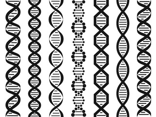 DNA set, seamless pattern.