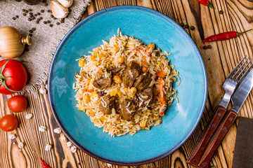 Pilaf festivities with beef