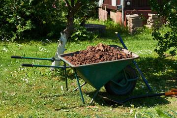 Spring garden construction, garden gardening