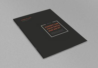 Diseño de folleto minimalista