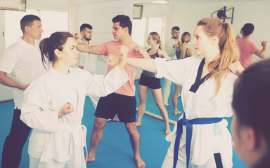 Practical work on karate
