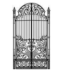black metal gate