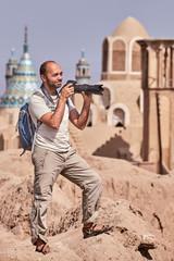 Kashan ancient town, Iran, Single trip of an individual tourist.