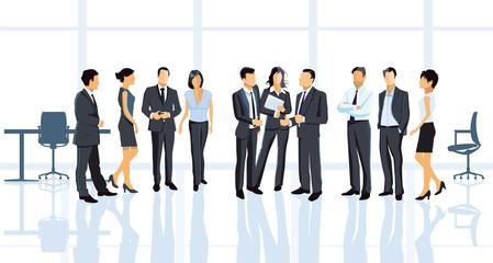 Geschäftsvereinbarung im Büro mit Geschäftsleuten