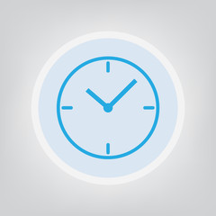 clock icon- vector illustration