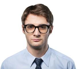 Closeup of a Serious Businessman