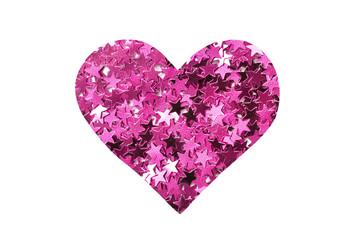 Pink glitter heart