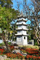 Japanese pagoda in royal park rajapruek in Chiangmai, Thailand